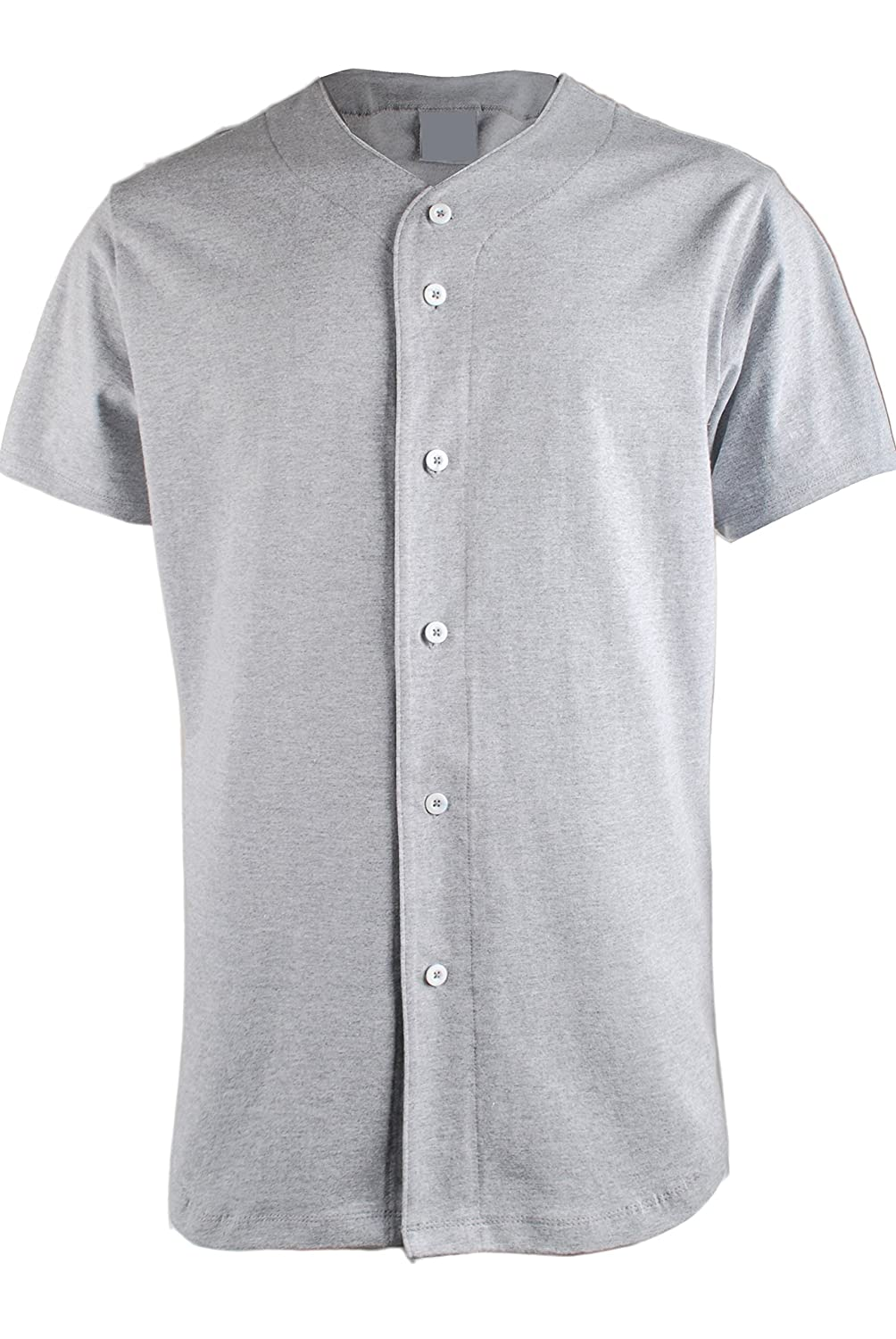 TL Men's Baseball Hipster Button Down Athletic Short Sleeve Jersey Tops TL-JERSEY
