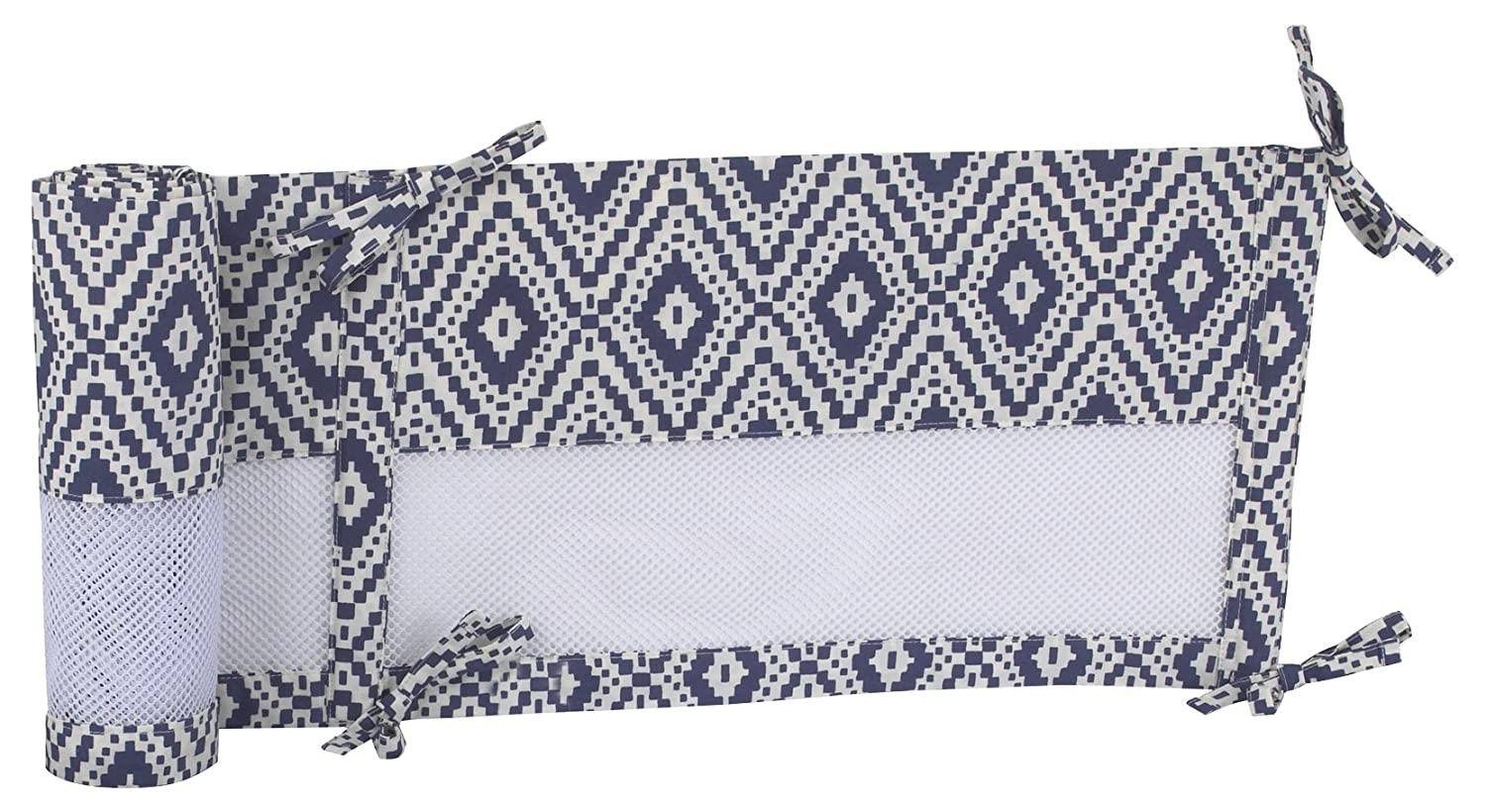Carter's - Be Brave - Secure-Me Crib Liner/Navy/ Light Blue/White Crown Crafts Infant Products 3825780