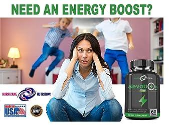 Elevation Energy Pills (60 Capsules) Natural Energy Supplement | Caffeine & Taurine | Increase Energy, Metabolism, Focus | Enhance Mood with Vitamin B1 B2 B5 B6 B12| Ginseng & Antioxidants