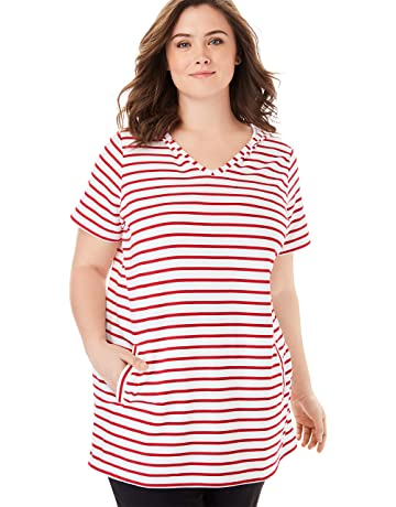 51da2fc1115 Woman Within Women's Plus Size Short Sleeve Tunic Hoodie