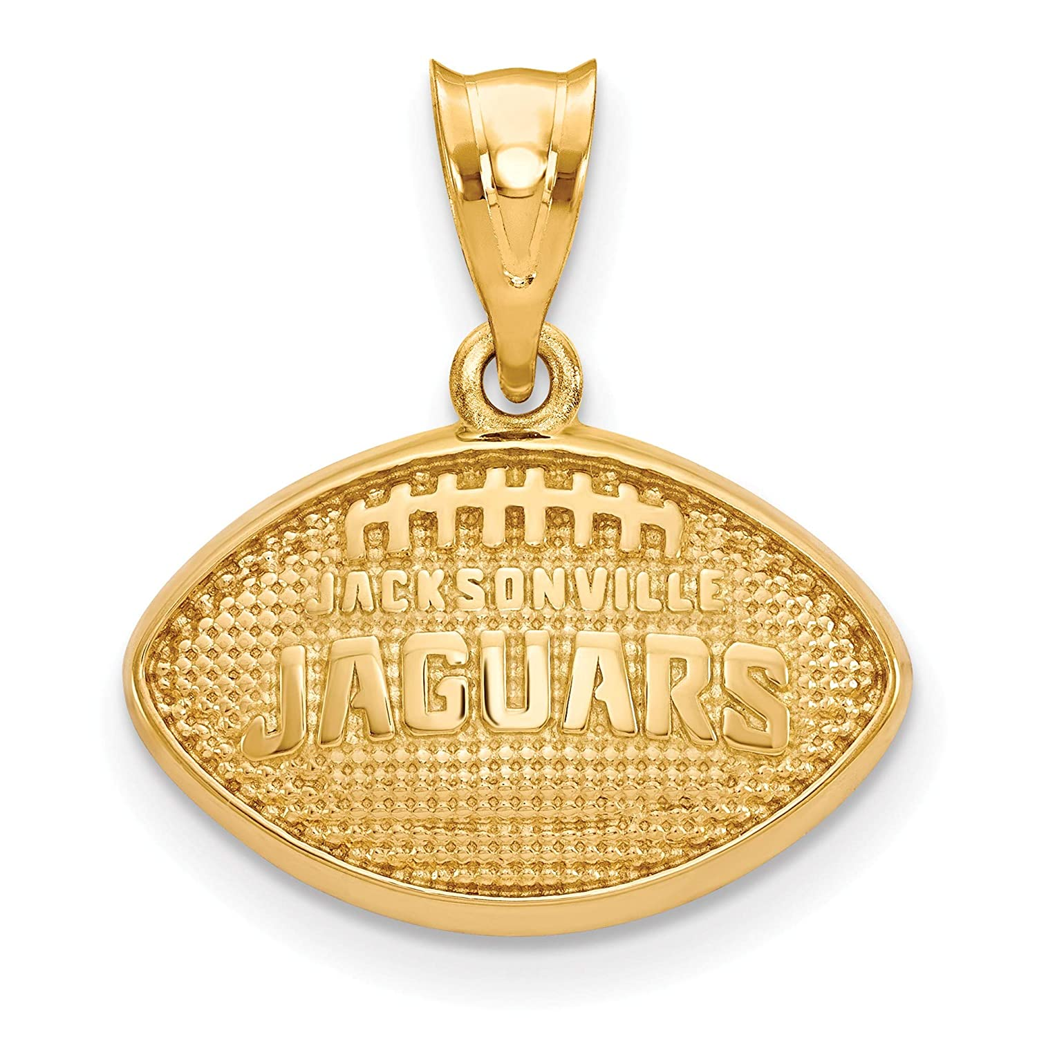 Kira Riley Gold Plated Jacksonville Jaguars Football Pendant for Chains and Necklaces