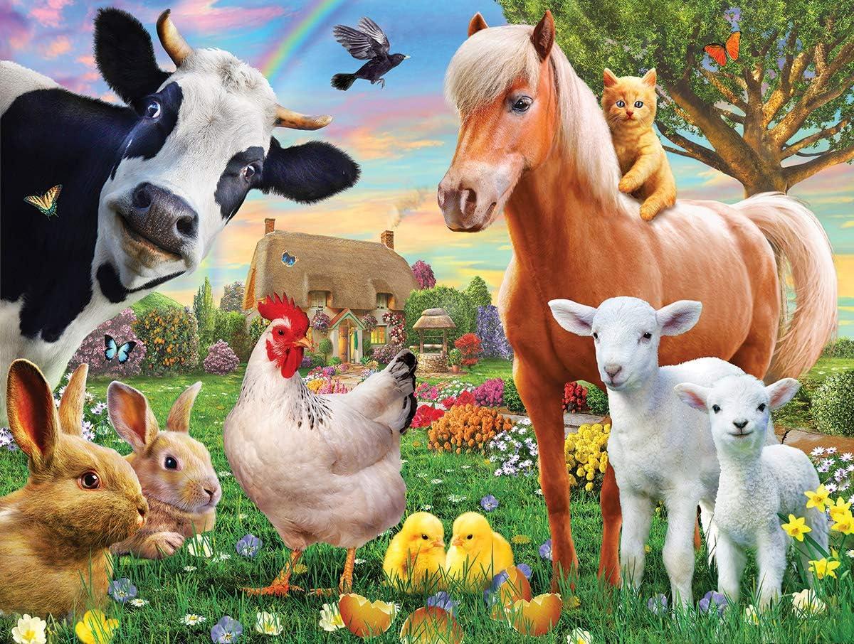 White Mountain Puzzles Farm Animals, 300 Piece Jigsaw Puzzle