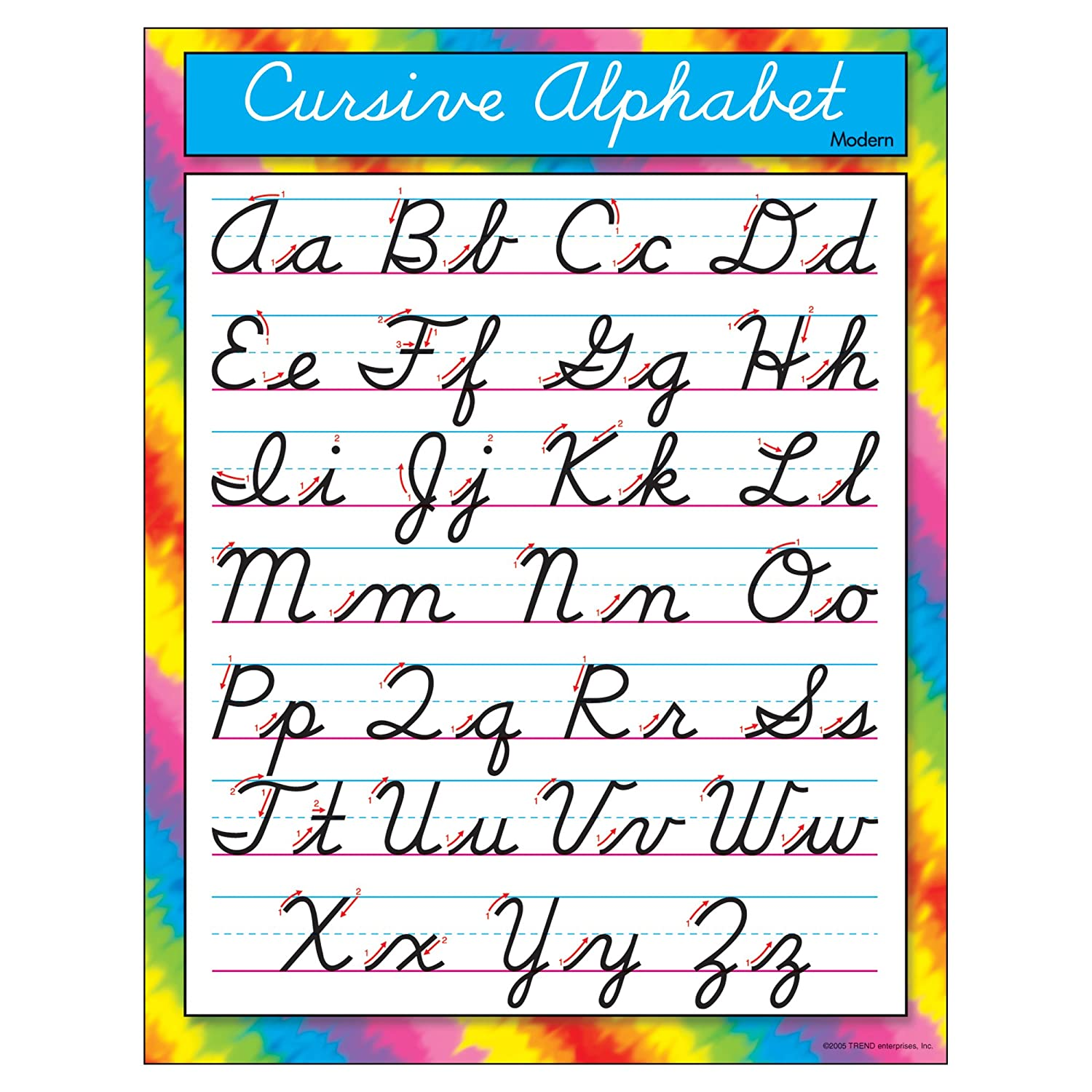 Amazon.com : TREND enterprises, Inc. Cursive Alphabet Modern ...