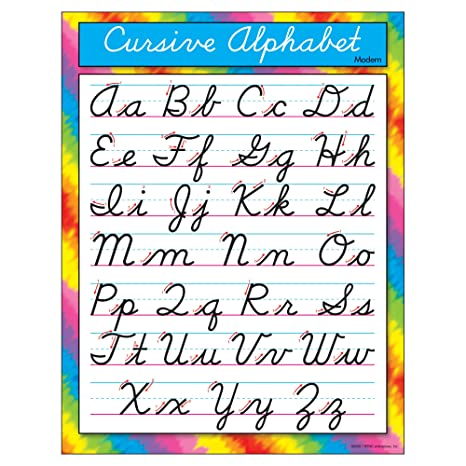 Trend Enterprises Cursive Alphabet (Modern)Learning Chart (T ...