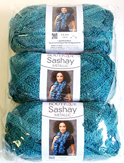 Amazon Red Heart Hh840 Malachite Metallic Sashay Yarn
