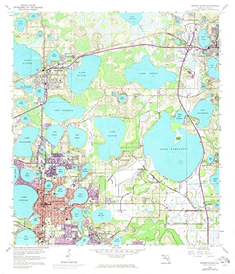 Amazon.com : YellowMaps Winter Haven FL topo map, 1:24000 ...