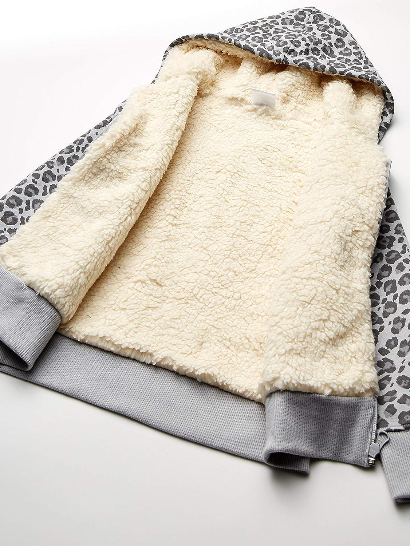 Marchio Spotted Zebra Sherpa-Lined Fleece Zip-up Hoodies Unisex-Bambini