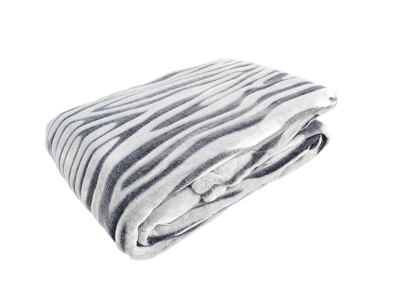 daydream K-9001 hochwertige Kuscheldecke im Zebra-Design aus Kunstfell