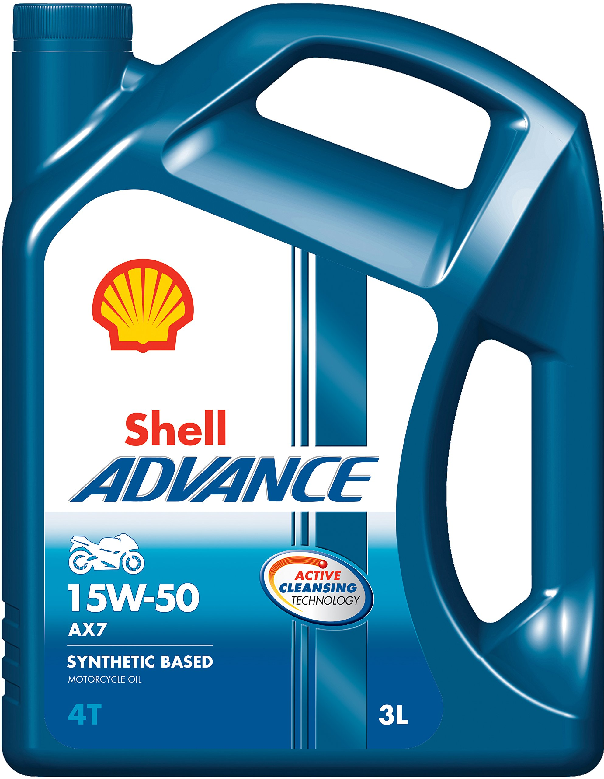 Shell Advance AX7 15W-50 API SM Semi Synthetic Engine Oil (3 L) product image