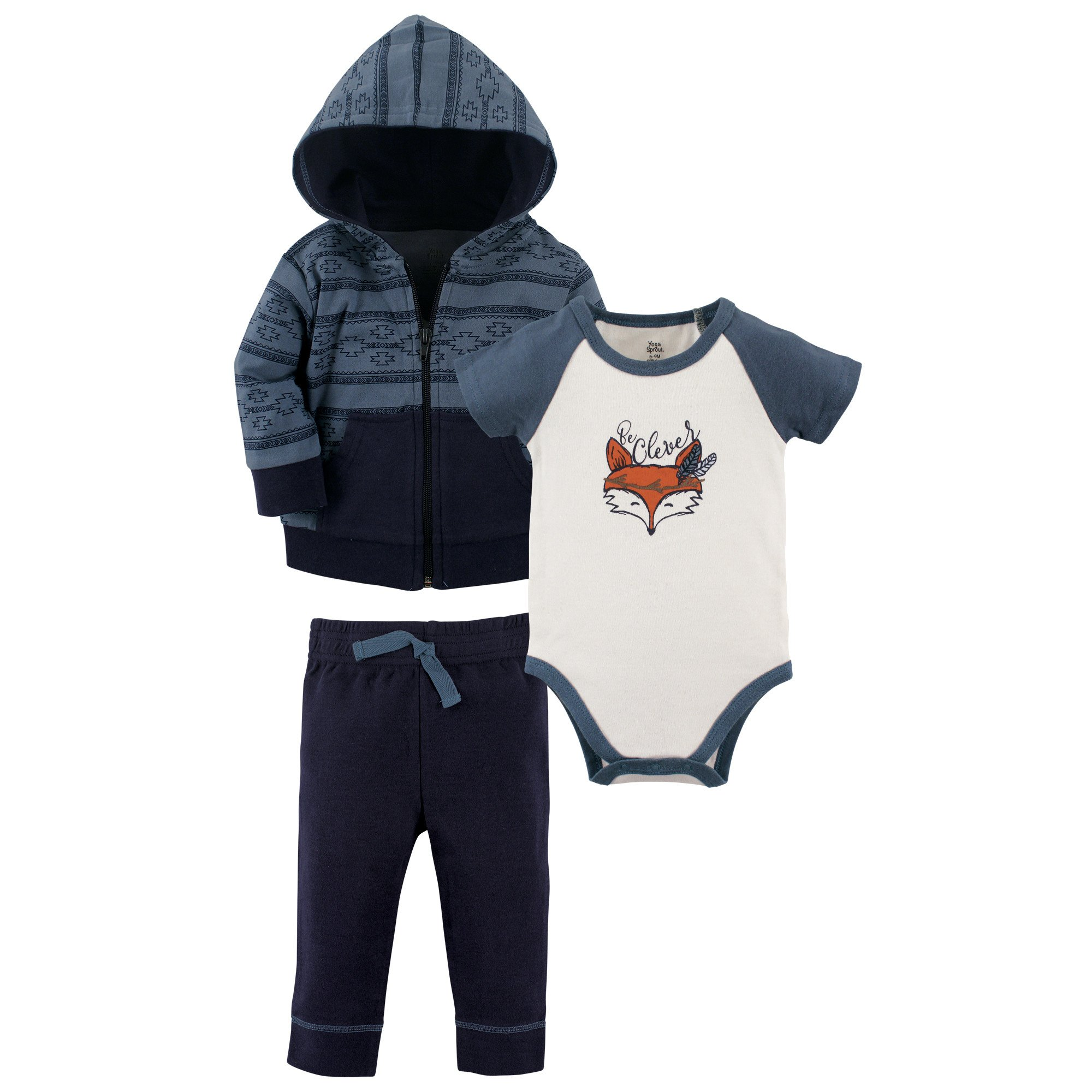 Best Rated In Baby Boys Layette Sets Helpful Customer Reviews Mom N Bab Sweater Orange Fox Yoga Sprout Infant 3 Piece Jacket Top And Pant Set Be Clever