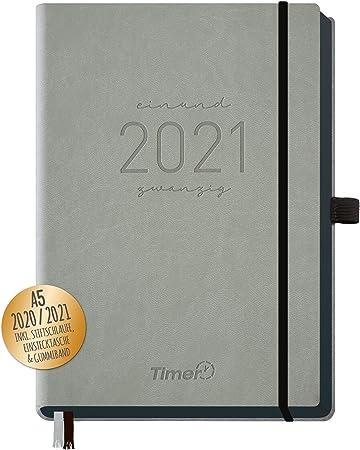 Kalender 2021 Taschenkalender 1 Stück Hardcover und Gummiband 14,5 x 9,5 x 1 cm