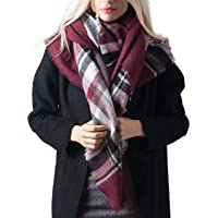 DiaryLook Fashionable Winter Warm Large Tartan Blanket Plaid Scarf Wrap Shawl