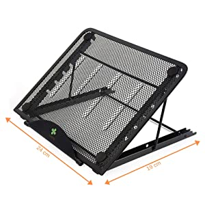 Ventilated Adjustable Stand for Small Laptop/LED Light Pad – Tracing Board/Tablet – iPad Great for Diamond Painting/Tracing/Sketching