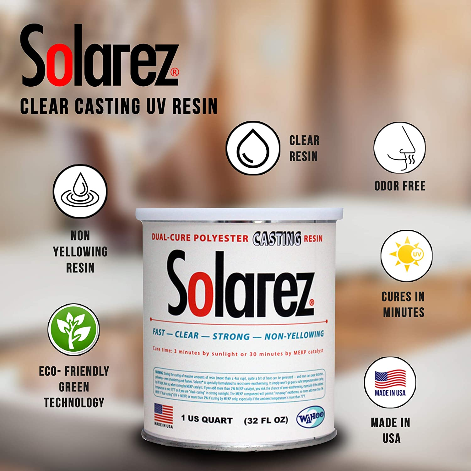 SOLAREZ UV Cure Clear Casting Resin ~ for DIY Jewelry, Hobby, Craft  Decoration Making - Crystal Clear Solar Cure Molding and Casting Resin