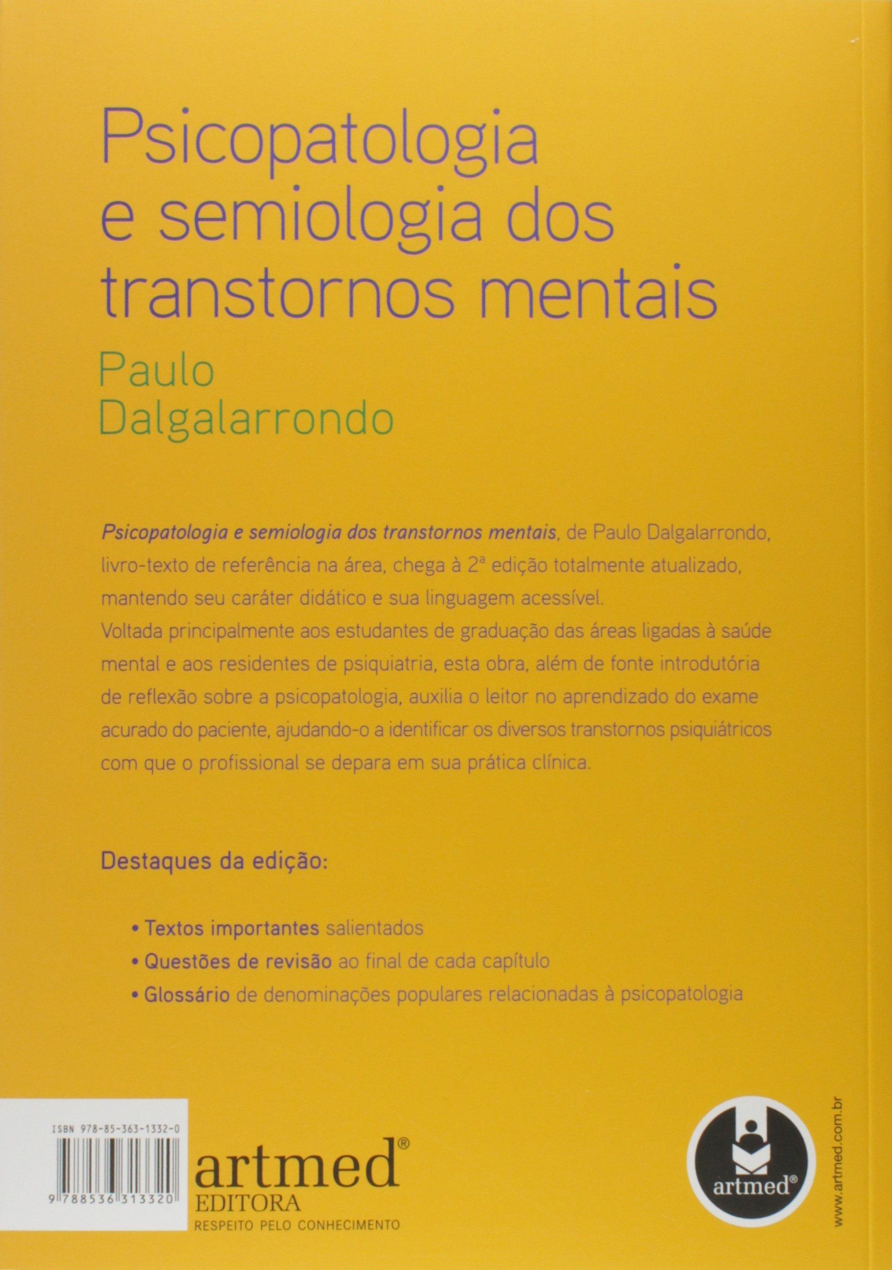 gratis o livro psicopatologia e semiologia dos transtornos mentais