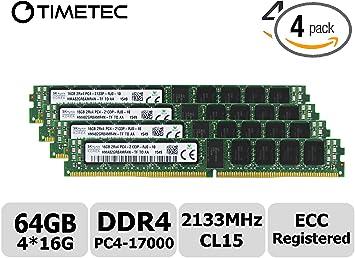 16GB 2Rx4 PC4-2133P 2133MHz 288PIN 1.2V REG ECC RDIMM Server RAM