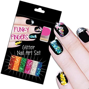 Amazon Funky Fingers Glitter Nail Art Beauty