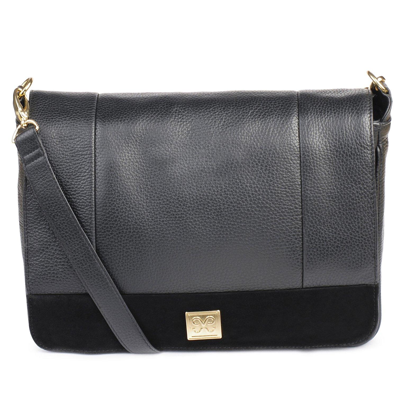 Bacoli Mini Black Italian Leather Evening bag