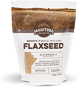Manitoba Milling Finest Whole Milled Smooth Golden Flaxseed Flax Seed Powder, 1 Lb. (16 oz) , Fiber, Protein, ALA Omega-3 Fats, Non-GMO, Gluten-Free, Farm-to-You, Family-Owned Farm Company