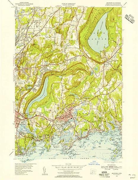 Amazon.com: YellowMaps Branford CT topo map, 1:31680 Scale, 7.5 X ...