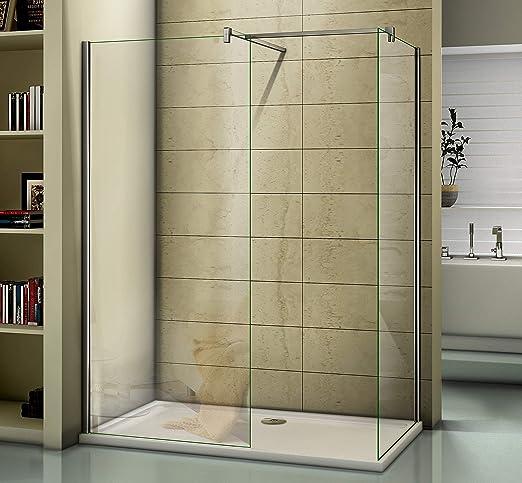 Perfect Wet Room - Mampara de Ducha con Pantalla, 1100mm Two Glass ...