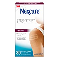 Nexcare Steri-Strip Wound Closure, Secures and closes small cuts and wounds, 1/4...
