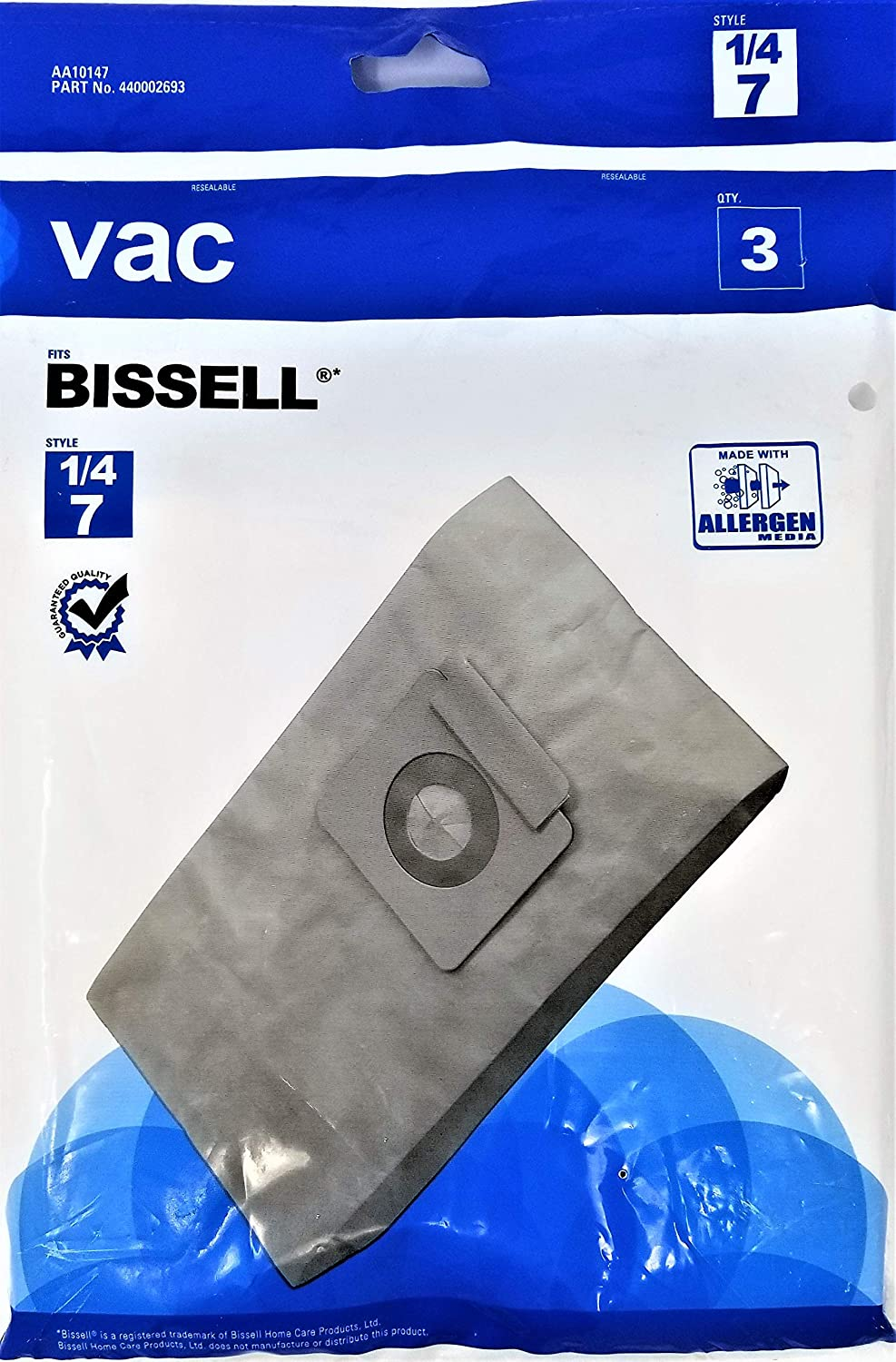 Universal Vacuum Bag Fits Bissell 1/4 7