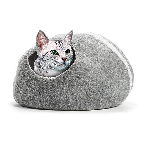 CO-Z Cama y Cueva Artesanal para Gato Muebles para Gatitos y Perros Pequeños Cama