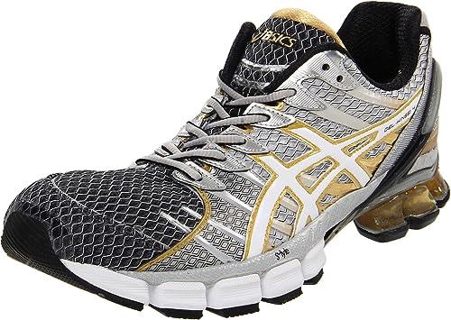 online store 64e00 4d7e4 ASICS Men s Kinsei 4 Running Shoe,Black White Gold,7 ...