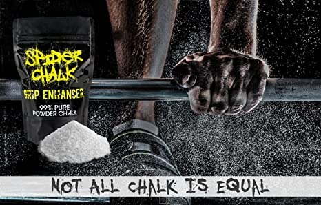 Weight Lifting Chalk, Premium Quality Loose Chalk for Rock Climbing, Cross Fitness Training, and Gymnastics, Spider Chalk Grip Enhancer, 99% Pure Loose ...