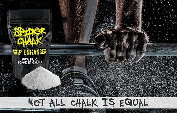Spider Chalk Grip Enhancer Weight Lifting Chalk Powder Cross Fitness Training Sports Made in the USA Premium Loose Workout Sport Chalk for Rock Climbing and Gymnastics 99/% Pure Powdered Magnesium Carbonate