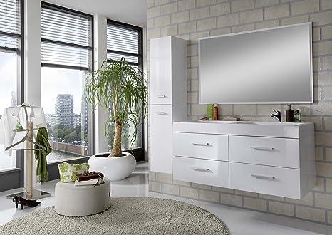 Mobili Da Bagno Bianco Lucido : Mobile bagno brera bianco lucido e lavabo resina hide bianco