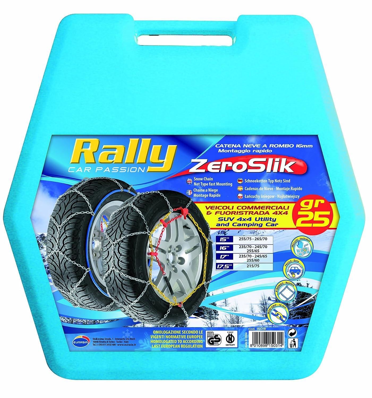Rally 15036 - Cadenas de nieve (25 g, Rombo 16 mm, 2 piezas: Amazon.es: Coche y moto