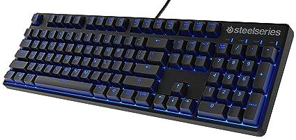f6da23027d5 SteelSeries Apex M400 Illuminated Mechanical Gaming Keyboard - Linear  Switch - Blue LED Backlit - Media