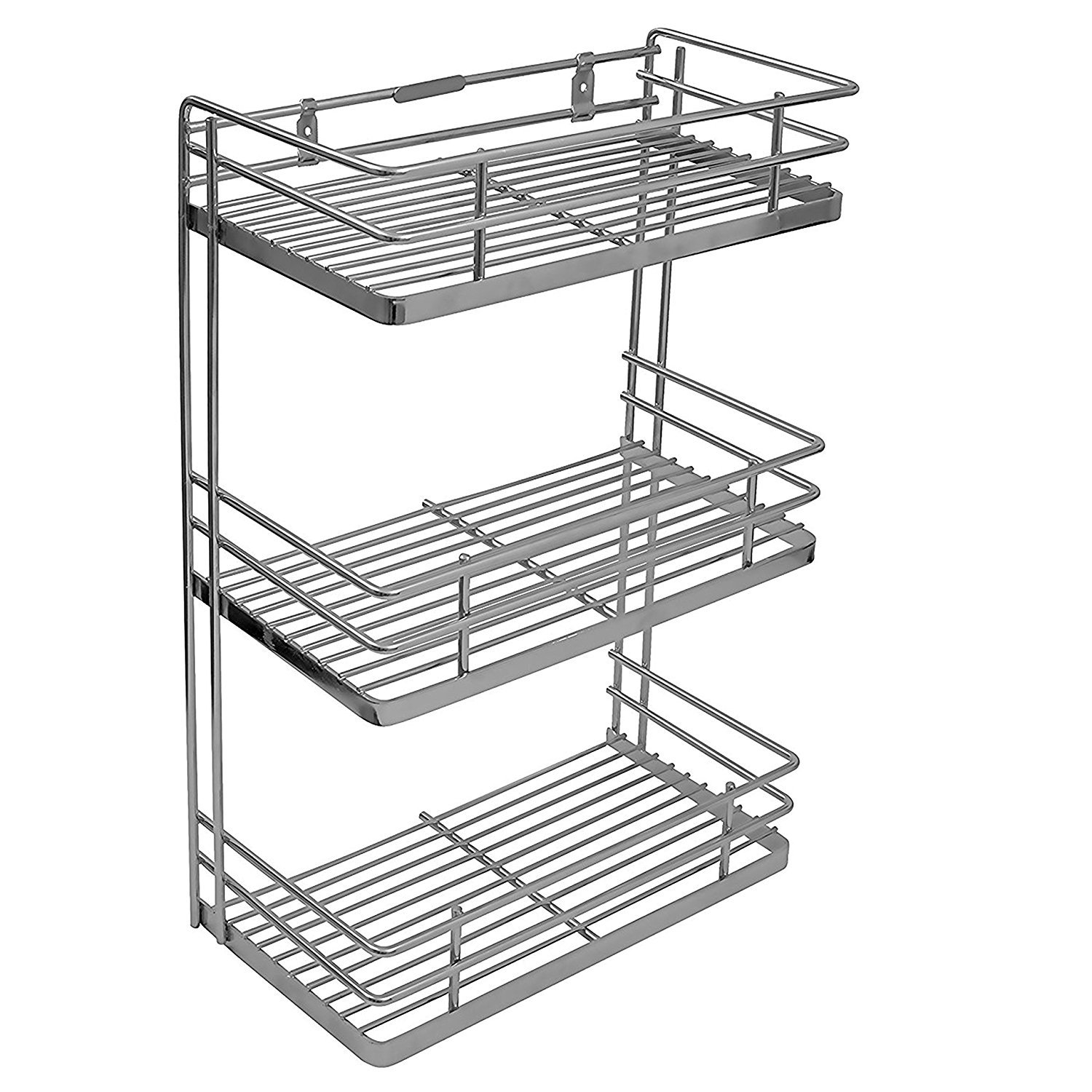 For 1799/-(54% Off) Klaxon Stainless Steel Kitchen Spice Rack (Silver) at Amazon India