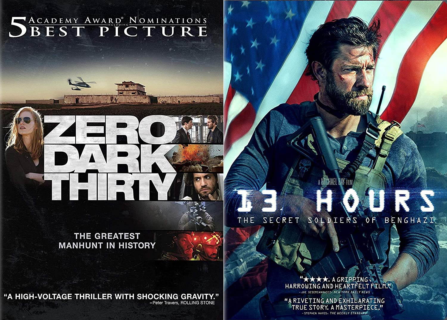 Amazon Com America S Secret Soldiers Secret Wars Collection 13 Hours Zero Dark Thirty Double Feature 2 Dvd Bundle John Krasinski Jessica Chastain Michael Bay Movies Tv