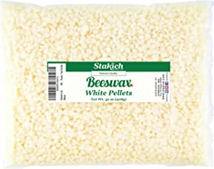 Stakich White Beeswax Pellets - Natural, Cosmetic Grade - 2 Pound (in 1 Pound Bags)
