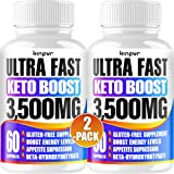 Powerful Keto Pills - Best Diet Pills for Metabolism, Energy, and Brain Support That Work for Men & Women - 2-Pack…