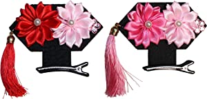 Lucore Home Chinese Flower Girls Headpiece Hairpins, 2 PC Princess Costume Hat & Hair Decoration (Daisy)