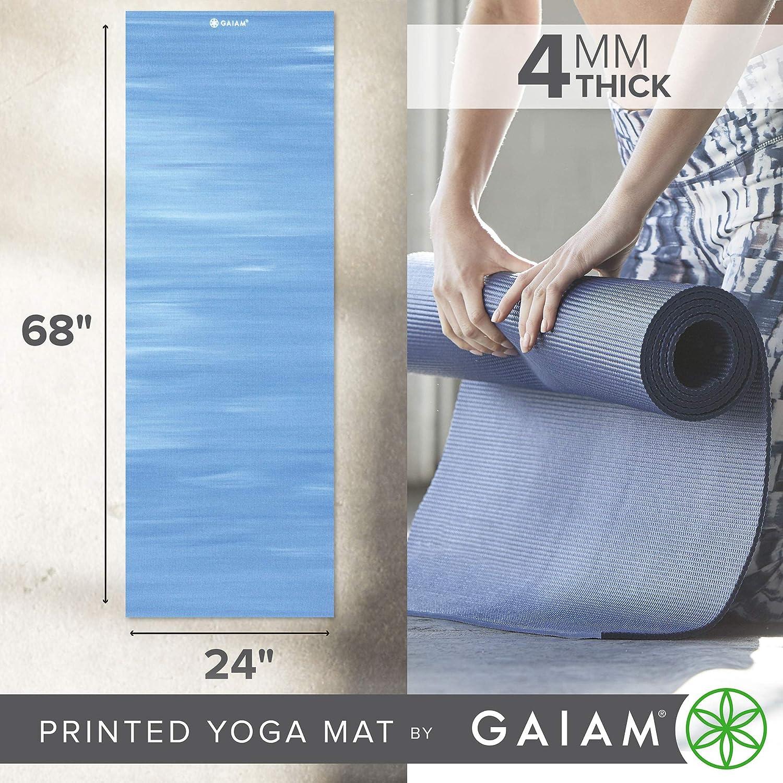 Gaiam 05-54073 - Colchoneta de Yoga (3 mm, Impreso, Anti Deslizante, hasta 4 mm)