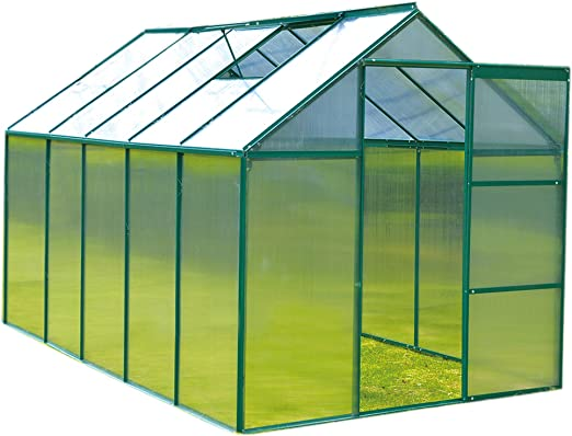 Invernadero de policarbonato transparente FoxHunter marco de ...