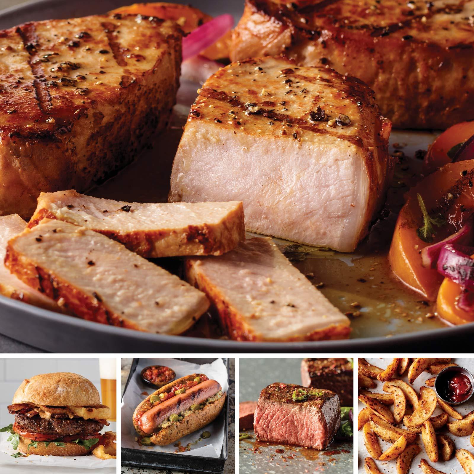 Omaha Steaks Most Wonderful Time Sampler (13-Piece with Top Sirloins, Boneless Pork Chops, Steak Burgers, Jumbo Franks, and Steakhouse Fries)