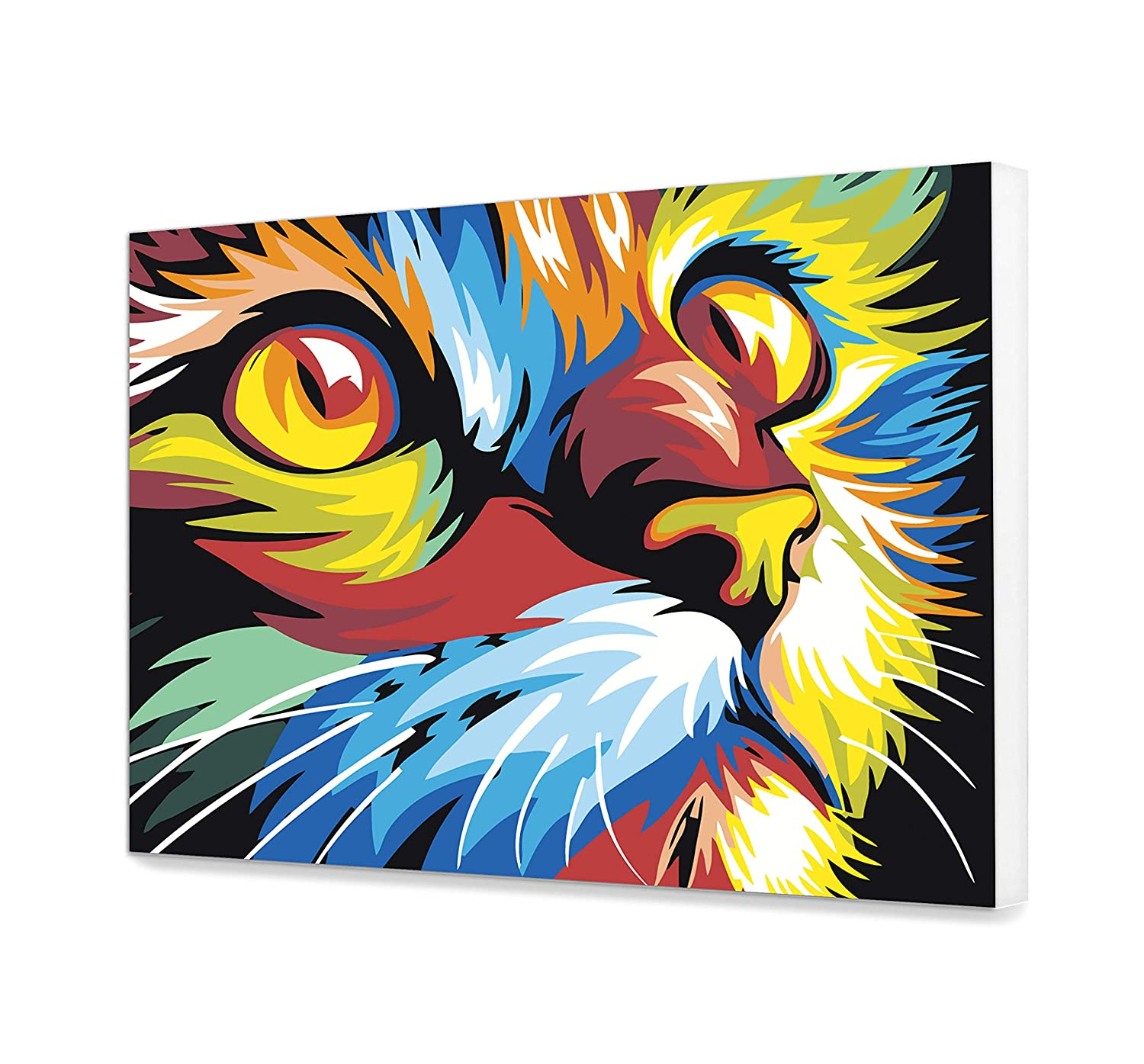 Cat Paints by number DIY kit EU Shipping DIY Colorful Paint by Number Kit Acrylic Pop Art Painting Home Decor Art Abstract Home Decoration