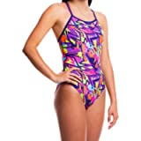 Flow Funky Swimsuits for Girls - Size 23 to 30 One Piece Competition Swim Suit in Eight Rad Swimsuit Designs