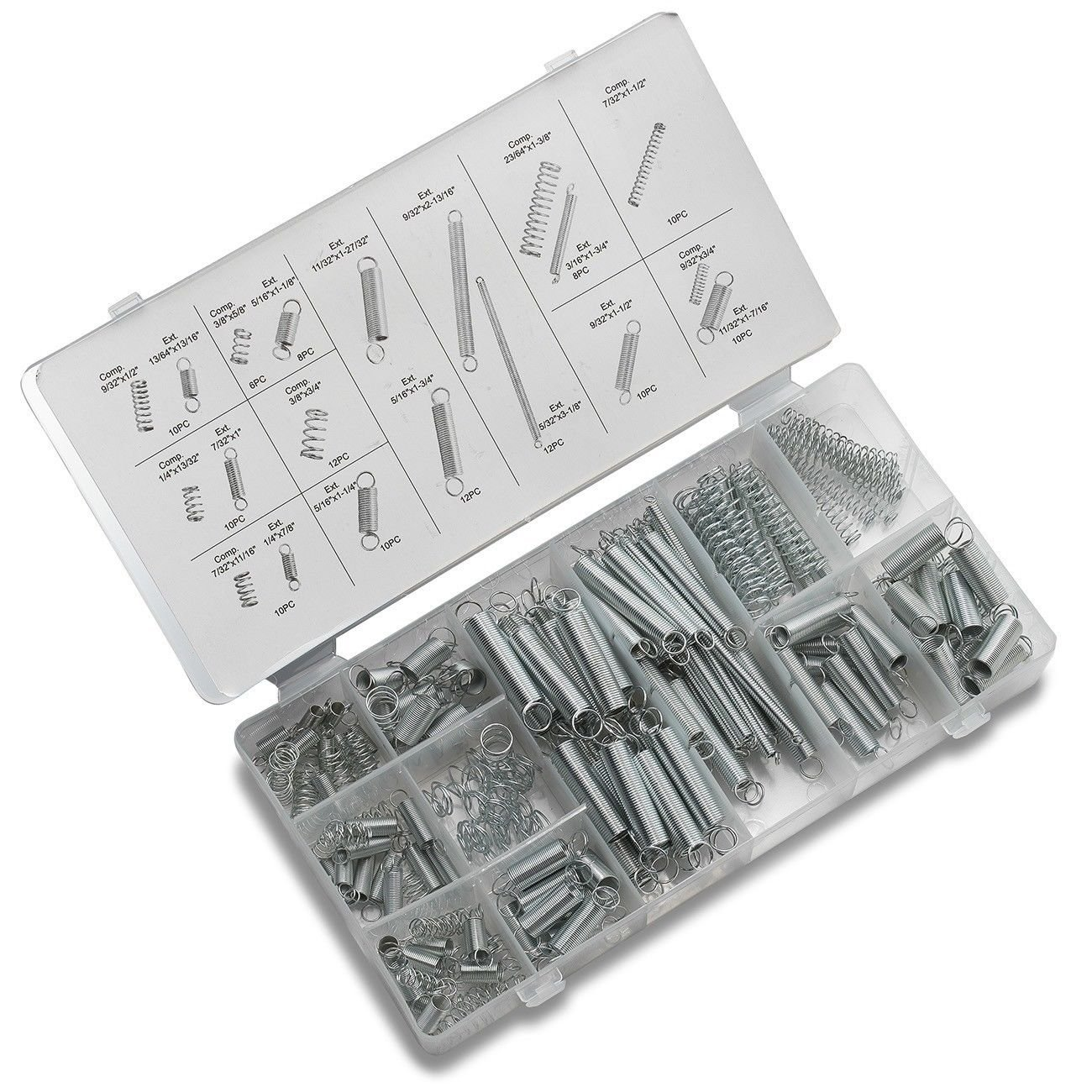 200 Small Metal Loose Steel Coil Springs Assortment Kit
