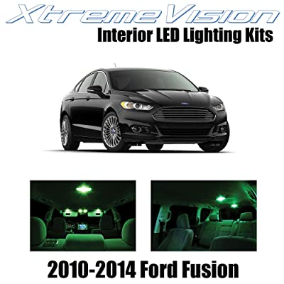 Xtremevision Interior LED for Ford Fusion 2010-2014 (5 Pieces) Green Interior LED Kit + Installation Tool: Automotive [5Bkhe0404981]