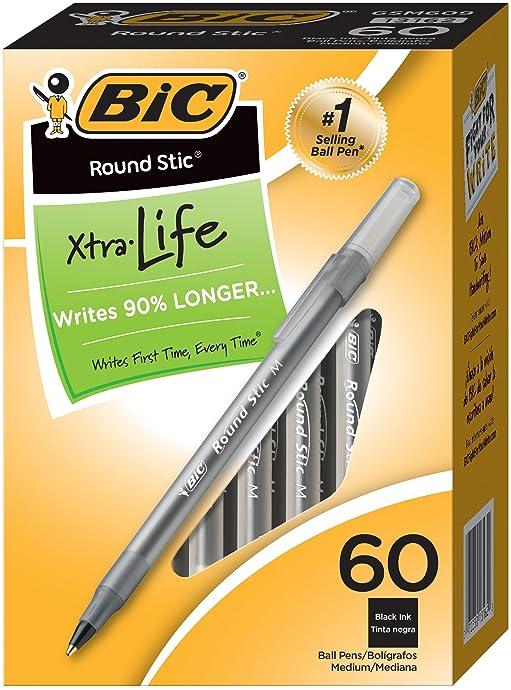 金盒特价 BIC 比克 墨水笔 宝珠笔 60支盒装 黑色 2.3折$2.96 海淘转运到手约¥39
