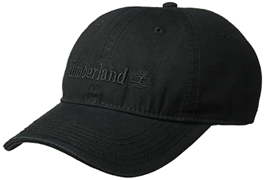 4c29d3f0 Timberland Men's Cotton Canvas Baseball Cap, Black, One Size at ...