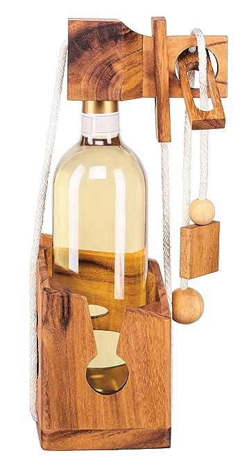 13 opinioni per Puzzle bottiglia in legno pregiato, scrigno per bottiglia, cassaforte bottiglia,