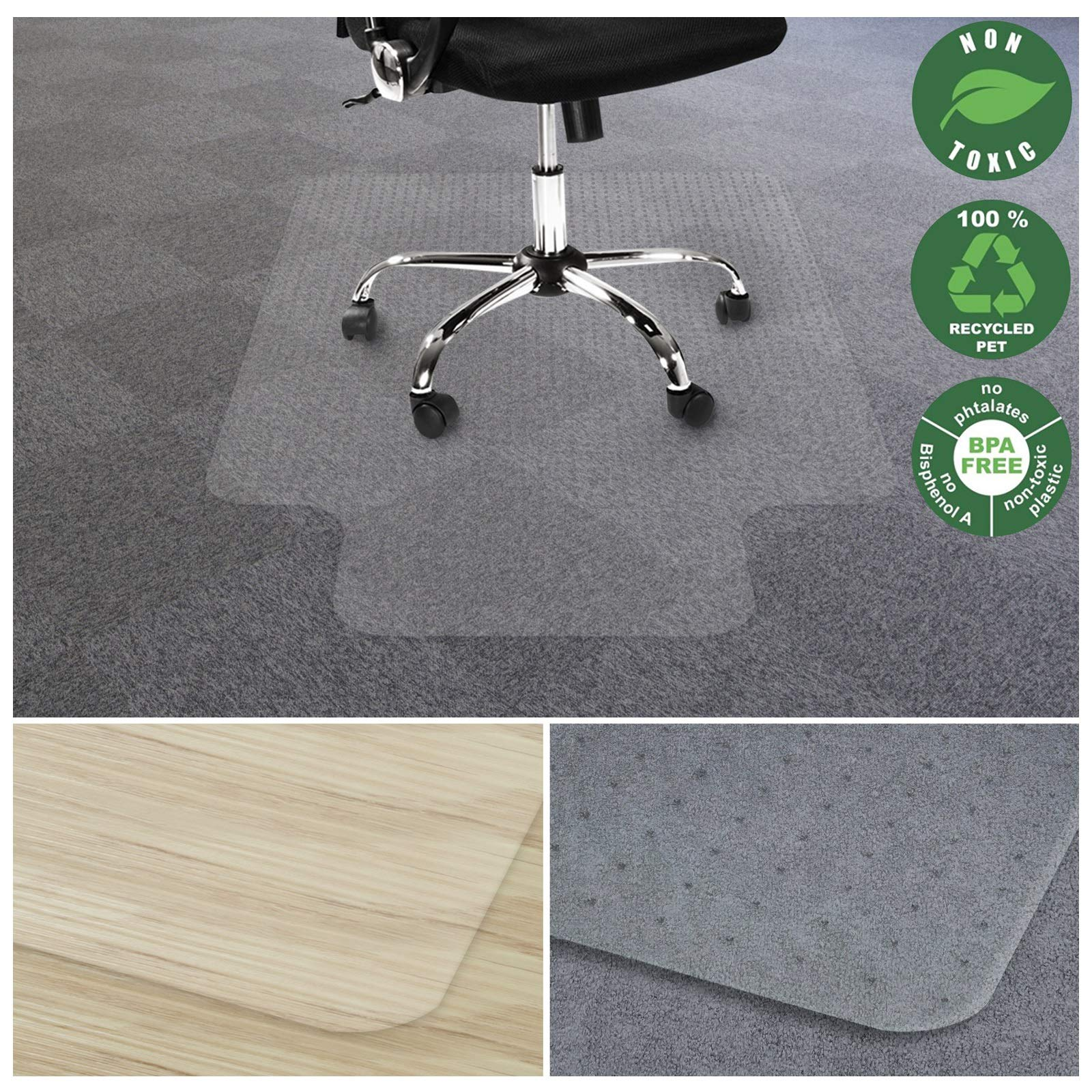 Office Marshal Chair Mat For Carpet With Lip Eco Friendly Series
